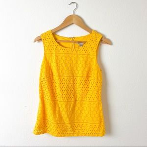 Banana Republic Golden Yellow Eyelet Blouse